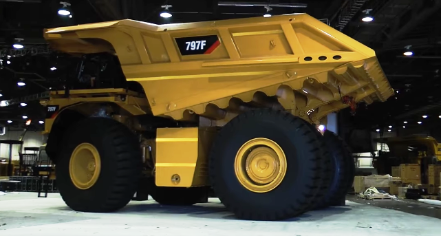 Caterpillar 797b biggest vehicle machine