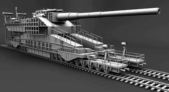 Schwerer Gustav 800-millimeter rail cannon biggest vehicle machine tank gun weapon cannon