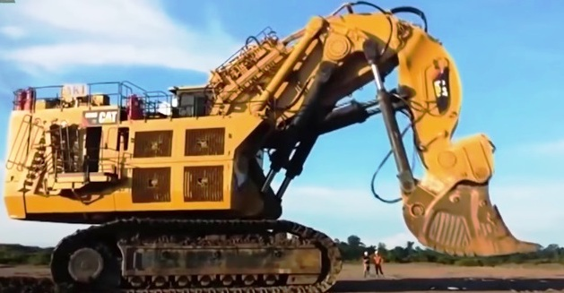 Terrax Bucyrus Rh 400 the Bucyrus Rh 400 biggest vehicle machine excavator CAT