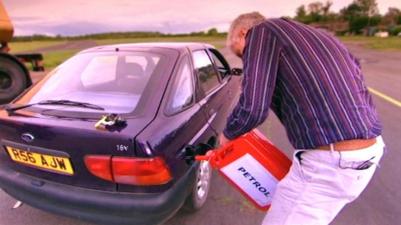 Putting petrol into diesel car
